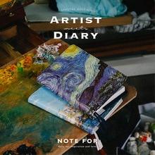 2018 Новая версия The Artist Series A5 A6 Journal Hobonichi Fashion PU Diary 120 Sheets Купить сейчас Получите покрытие из ПВХ бесплатно!