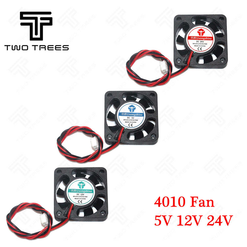 3D Printer Fan Cooling Fan 4010 5/12/24V (40*40*10 Mm) fan 4010 5 12 Volt Brushless DC Penggemar untuk Heatsink Cooler Pendingin Radiator