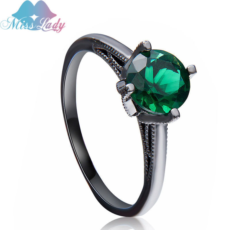 Copper zircon jewelry couple  ring 2017 New Women's Rings Black Gold Filled  zircons Jewelry Wedding Engagement Ring MLR3108