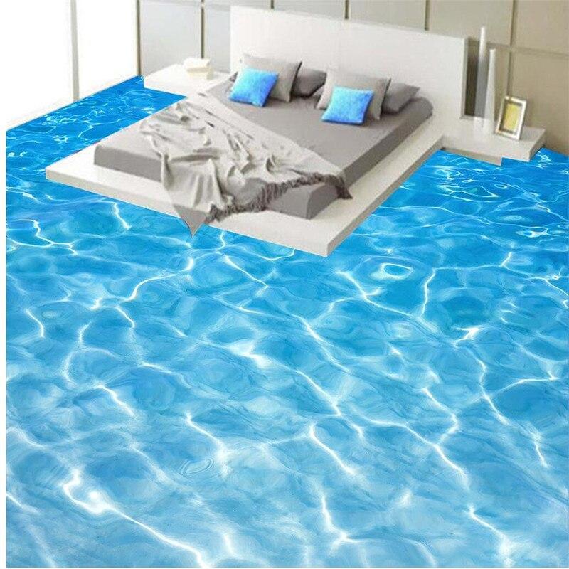 Beibehang Custom Flooring Painting Bathroom 3d Seawater