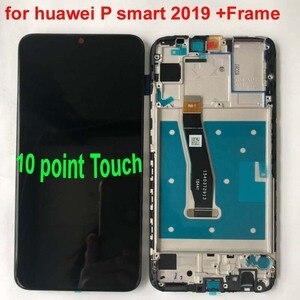 """Image 4 - 새로운 6.21 """"화웨이 P 스마트 2019 LCD 디스플레이 스크린 + 터치 패널 디지타이저 POT LX1/POT LX1AF/POT LX2J 프레임"""
