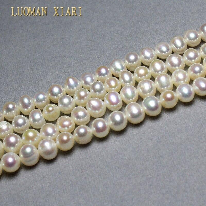LUOMAN XIARI AAA Irregular Natural Pearl Beads Jewelry Making DIY Bracelet Necklace Material 67mm Strand 15''