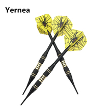 Yernea New Darts 3Pcs/set 18g Professional Competition Dart Soft Tip Indoor Sports Game Aluminium Shaft Alloy Flights