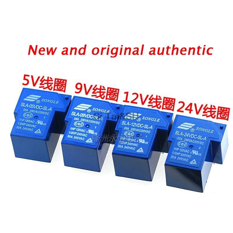 2PCS SLA-05VDC-SL-A 5V T90 30A 250VAC 30VDC ORIGINAL SONGLE Relay 4PIN
