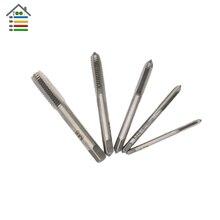 5PCS/Set HSS M3 M4 M5 M6 M8 Machine Spiral Point Straight Fluted Screw Thread Metric Plug Hand Tap Drill Grinding Carving Tool