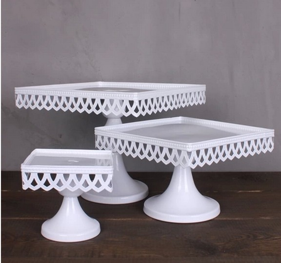 how tall should a wedding cake stand be 16cm 20cm 24cm european style wedding table square cake 15563