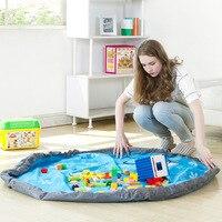 Portable Kids Toy Storage Bag And Play Mat Toys Organizer Bin Box XL Fashion Practical Storage