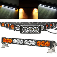 White Amber Yellow LED Light Bar 30W 60W 90W 120W 150W 180W 210W 240W 270W 300W 4x4 Offroad Barra LED Work Driving Lamp 12V 24V