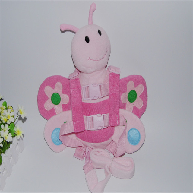 Harness Buddy Pink Bee 2-in-1 Baby Backpack Protection Walking Reins for Children Aged from 1 to 3