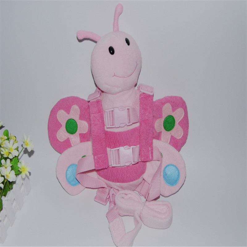 Harness Buddy Pink Bee 2 in 1 Baby Backpack Protection Walking Reins for Children Aged from 1 to 3