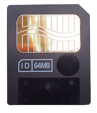 64MB 3.3V 3V SmartMedia Card SM Memory Card GENUINE Smart Media Card By TOSHIBA Used Item NOT New.