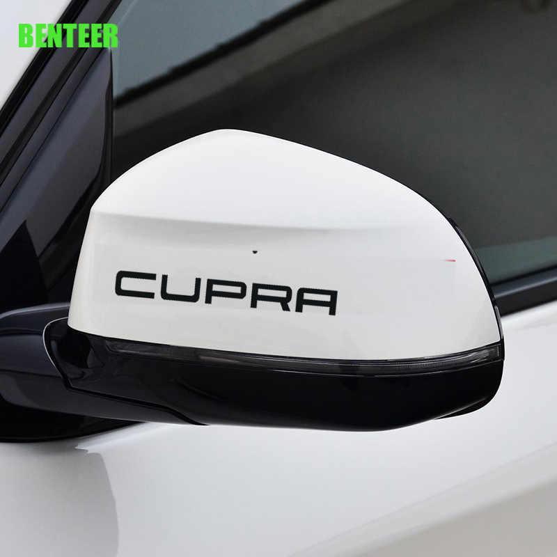 2pcs KK mobil kaca miror stiker untuk kursi cupra