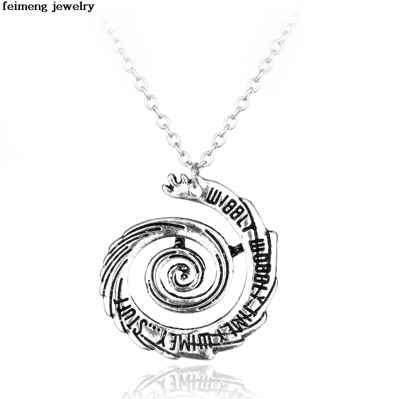New Arrival Doctor Who Vintage Necklace Wibbly Wobbly Timey Wimey Classic Necklaces & Pendants Party Accessories