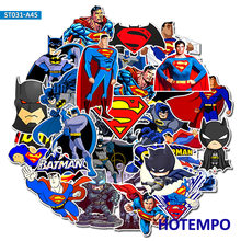 45 Pcs DC Super Hero Marvel Superman Batman Stiker untuk Ponsel Laptop Bagasi Koper Gitar Skateboard Stiker Mobil(China)