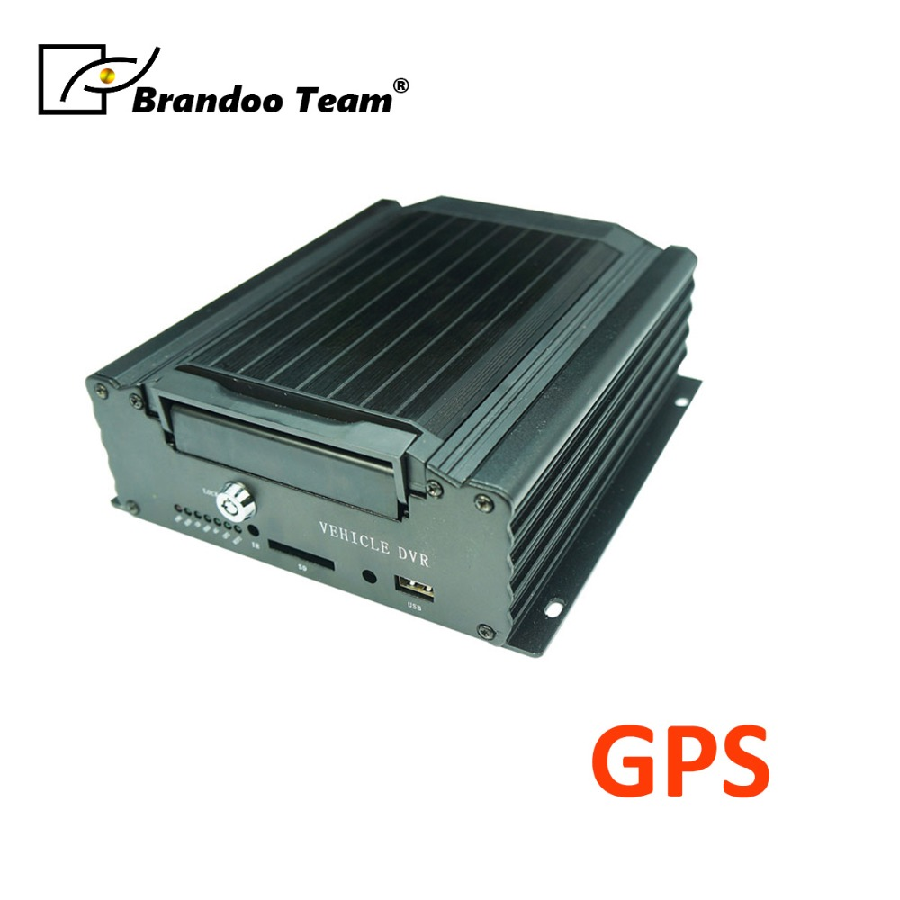 GPS HDD car video recorder 4 channel car video surveillance MDVR host AHD 1080P GPS positioning