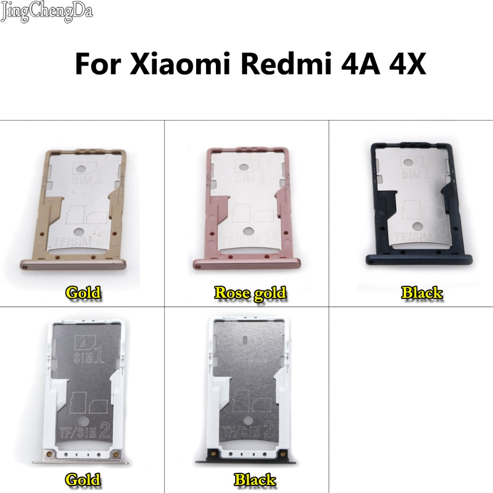JCD For Xiaomi Redmi 4A 4X <font><b>SIM</b></font> Card Tray Holder Micro SD Card <font><b>Slot</b></font> Holder Adapter Phone Replacement Repair Spare Parts image
