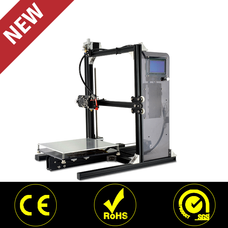 2017 Unique Design Home Use Metal 3D Printer and Stampante 3D with Touch Screen Support Windows Mac Linux System Software