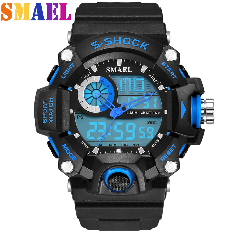2016 Newest LED Digital Watch For Men Casual Clock Bl