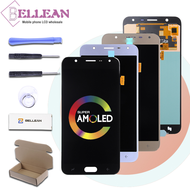 HH Promotion J7 2018 <font><b>Lcd</b></font> For Samsung Galaxy <font><b>J720</b></font> <font><b>Lcd</b></font> J7 DUO <font><b>J720</b></font> Display Touch Panel Screen Digitizer Assembly Free Shipping image