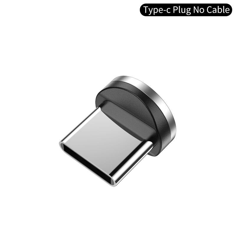 YKZ Магнитный USB кабель для huawei samsung type C type-C зарядный USB C Магнитный кабель Micro USB шнур для мобильного телефона для iPhone - Цвет: Type C plus NO cable