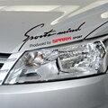 Ceja lámpara mind Sport diseño pegatina en el coche para chevrolet spark, car styling accesorios calcomanías y cubierta de vinilo DIY decoración