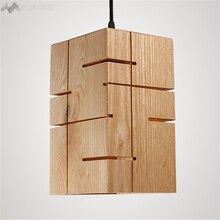 Арт Деко креативный в стиле лофт Ретро освещение для гостиной Ресторан Бар Кафе деревянная лампа-свеча люстра лампа в форме бочонка