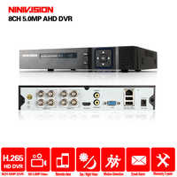 Video Surveillance H.265 AHD DVR NVR 4 8 Channel For HD 1080P 4MP 5MP AHD IP Camera CCTV CVI TVI NVR ONVIF 2.0 NINIVISION DVR
