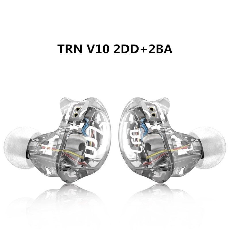 TRN V10 HIFI Stereo Earphone 2DD+2BA Hybrid Earbuds Audio DJ Monitor Music Headset Ecouteurs With 2PIN Detachable Earplug мультиварка steba steba dd 2 xl eco