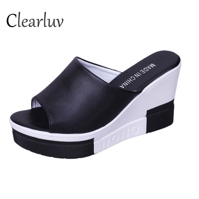 Wedges High-Heel Platform Sandals Comfortable Slippers-Size Fish-Mouth Casual Summer