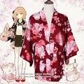 """Onegai Neko"" Praying Cat Women's Japanese Kimono Style Kawaii Blossom Bunny Trench Cute Lolita Loose Outwear 4 Colors"