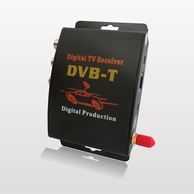 горячая! Формат MPEG-4 автомобилей DVB-т цифровой мобильный тв-приемник с 2 видео выход + усилитель антенны