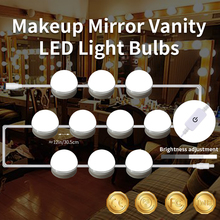 2pcs Led Vanity Table Makeup Mirror Bulbs 6 10 14pcs Dressing Mirror Lights With Touch Switch 85-265V Hollywood Makeup Wall Lamp wooden dressing table makeup desk with stool oval rotation mirror 5 drawers white bedroom furniture dropshipping