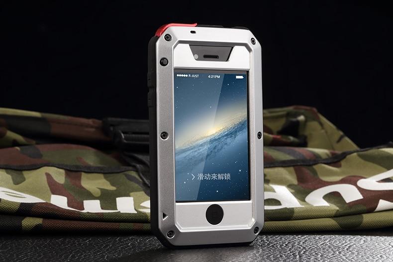HTB1g1Uae1OSBuNjy0Fdq6zDnVXaQ Heavy Duty Protection Doom armor Metal Aluminum phone Case for iPhone 11 Pro Max XR XS MAX 6 6S 7 8 Plus X 5S 5 Shockproof Cover
