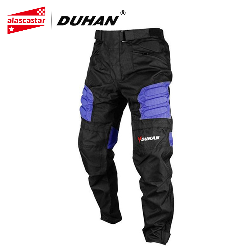 лучшая цена DUHAN Motorcycle Pants Men's Windproof Sports Pants Knee Protector Guards Racing Pants Oxford Cloth Riding Racing Trousers DK-02