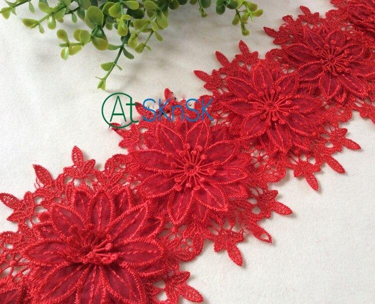 10vnt gėlių / partijos Prancūzijos nėrinių audinio vestuvių - Menai, amatai ir siuvimas - Nuotrauka 2