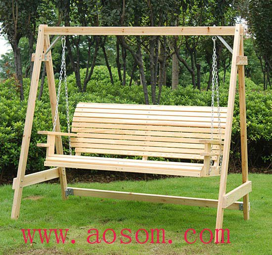 Aosom 5 Foot Wood Handmade Porch Swing Chair With Hang Chain