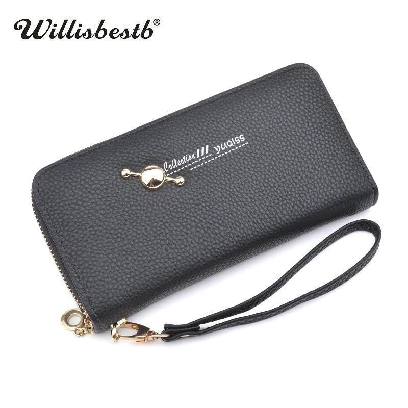 New Brand Women Zipper Wallet Long Ladies High Quality Purse Female Leather Wallets Woman Purse Card Holder Portefeuille femme