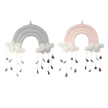 Baby Crib Decor Toy Cotton Cloud Shape Kindergarten Nursery Room Wall Hanging Decor for kids(China)