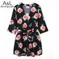 Beach Style Women's Deep V Neck Floral Print Jumpsuits Playsuits Ladies Overalls Summer Rompers Pants New Free Shipping 35