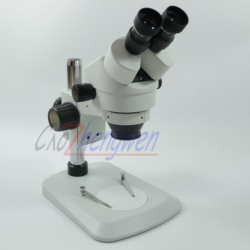 FYSCOPE New Arrive  7X 45X Table Pillar Stand  Binocular Stereo Microscope  Students Microscope WF10X/20MM eyepiece pillar stands student microscope binocular stereo microscope - title=