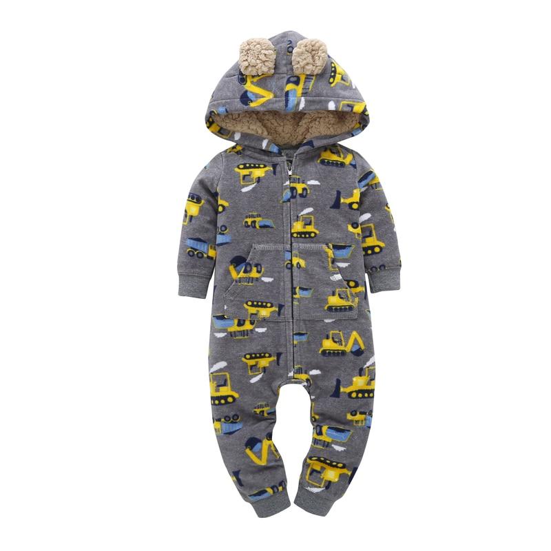 Newborn Bebe Jumpsuit baby Rompers Baby Boy Girl Cute truck Romper Sheep Fleece Infant Babies Clothes Meninas Jumpsuit