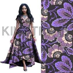Afryki tkaniny druk prawdziwym woskiem wysokiej jakości Ankara tkanina wyszywana kamieniami Ankara tkanina we wzory typu African Wax dla kobiet sukienki H171031