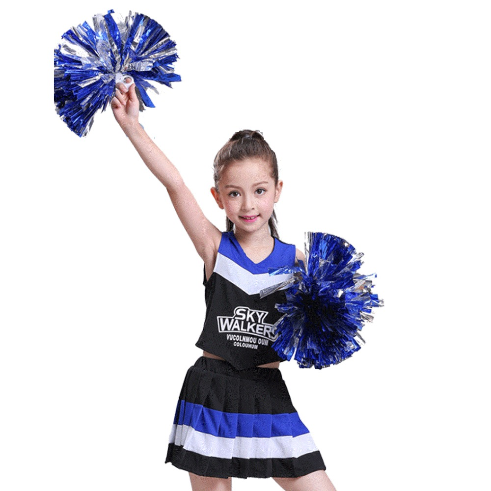 Cheerleaders Clothing Groups Kids School Cheerleaders Boys Girls Aerobics Costumes Competition Baby School Uniform Dress Skirt