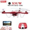 Listagem do novo syma x5uw fpv wifi 2.4g 6-axis quadcopter 4-ch com 720 P 2MP Câmera HD RC Helicóptero Transmissão Em Tempo Real zangão
