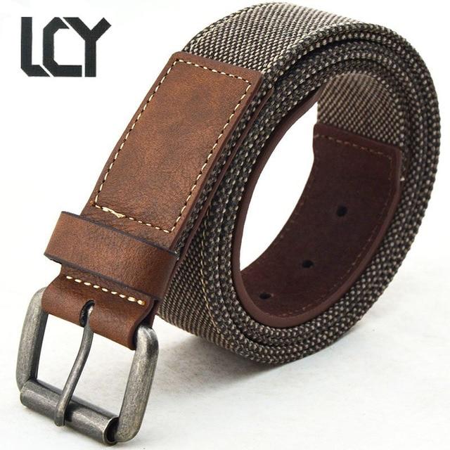 LCY  Designer ceintures Hommes En Toile De Haute Qualité PU Ceinture En  Cuir pour ea6c2a29bde