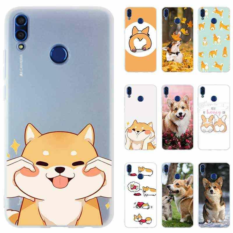 Copertura Della Cassa del telefono per Huawei Honor 20 9X pro 10 9 lite 9i 8a 8X Max 8C 7X 7A Pro 6X V20 GIOCA Animal Shiba Inu Dipinta Bella