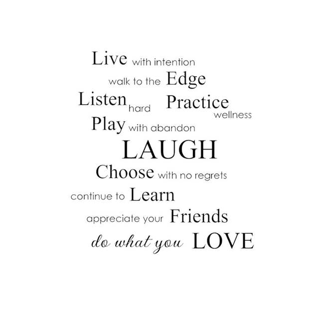 Live With Intention, Do What You Love Inspirational Phrases