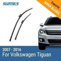 Free Shipping Sumks Framless Wiper Blade For Volkswagen Tiguan Soft Rubber 24 21 Windshield Wiper Blade