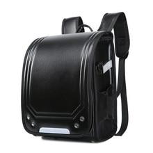 купить Disney 2019 Kid Backpack For Luxury School Bag For Boy And Girl Japanese PU Hasp Solid Randoseru Orthopedic Children Backpacks по цене 1440.74 рублей