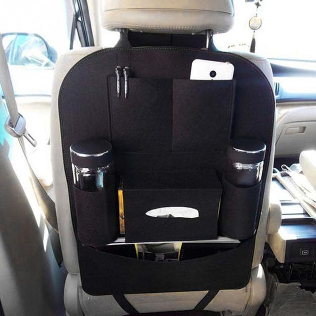 2018 Multi-color Auto Car Seat Back Blanket cloth Multi-Pocket Storage Bag Organizer Holder Accessory